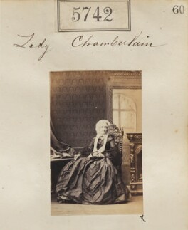 Harriet (née Mullen), Lady Chamberlain, by Camille Silvy - NPG Ax55696