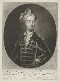 Edward Montagu, Viscount Hinchingbrooke, by and published by John Smith, after  Sir Godfrey Kneller, Bt - NPG D35857