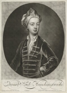 Edward Montagu, Viscount Hinchingbrooke, by and published by John Smith, after  Sir Godfrey Kneller, Bt - NPG D35858