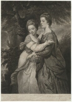 'Miss Crusses' (Elizabeth Hinchliffe (née Crewe); Emma Crewe), by John Dixon, sold by  Ryland and Bryer, after  Sir Joshua Reynolds - NPG D35859