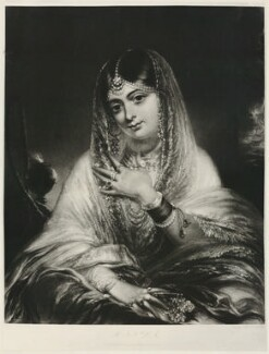 Hinda, by Unknown photographer, by  George Henry Phillips, published by  Ackermann & Co, after  George Duncan Beechey - NPG D35860