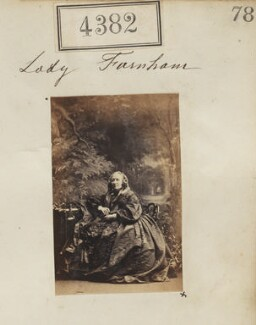 Anna Frances Esther (née Stapleton), Lady Farnham, by Camille Silvy - NPG Ax54395