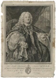 Benjamin Hoadly, by Bernard Baron, after  William Hogarth - NPG D35866