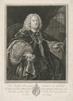 Benjamin Hoadly, by Bernard Baron, after  William Hogarth - NPG D35869