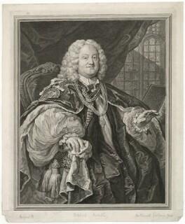 Benjamin Hoadly, by Bernard Baron, after  William Hogarth - NPG D35870
