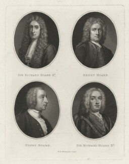 Sir Richard Hoare; Henry Hoare; Henry Hoare; Sir Richard Hoare, by William Henry Worthington - NPG D35877