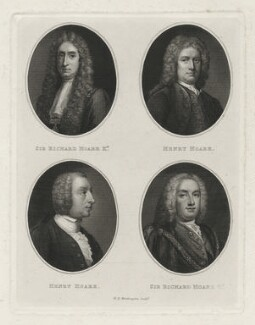 Sir Richard Hoare; Henry Hoare; Henry Hoare; Sir Richard Hoare, by William Henry Worthington - NPG D35878