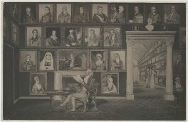 Samuel Hoare in his Picture Gallery, after Sarah Hoare - NPG D35886