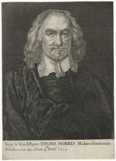 Thomas Hobbes, by Wenceslaus Hollar, after  Jan Baptist Gaspars - NPG D35889