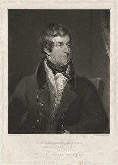 John Cam Hobhouse, Baron Broughton de Gyfford, by and published by Charles Turner, published by  Colnaghi, Son & Co, after  James Lonsdale - NPG D35891
