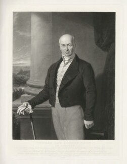 Thomas Law Hodges, by James Scott, printed by  Thomas Brooker, after  Sir George Hayter - NPG D35893