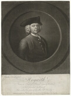 William Hogarth, by and published by Charles Townley, after  William Hogarth - NPG D35900