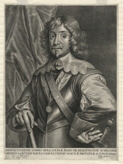 Henry Rich, 1st Earl of Holland, by Peeter Clouwet, published by  Gillis Hendricx, after  Sir Anthony van Dyck - NPG D35910