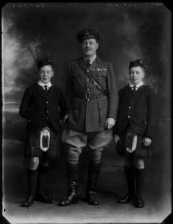 James Workman Walker with his two sons, by Bassano Ltd - NPG x154619