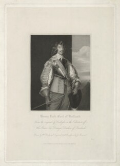 Henry Rich, 1st Earl of Holland, by James Thomson (Thompson), published by  Harding & Lepard, after  William Derby, after  Sir Anthony van Dyck - NPG D35911