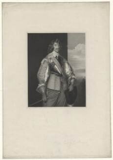 Henry Rich, 1st Earl of Holland, by James Thomson (Thompson), after  William Derby, after  Sir Anthony van Dyck - NPG D35913