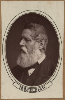 Sir Stafford Henry Northcote, 1st Earl of Iddesleigh, by Unknown photographer, 1880s - NPG x12115 - © National Portrait Gallery, London