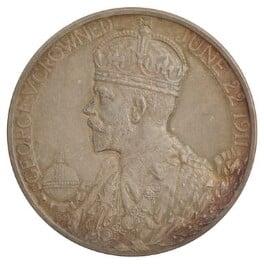 Coronation medal of King George V; Queen Mary (on reverse), by Sir (Edgar) Bertram Mackennal - NPG D36109