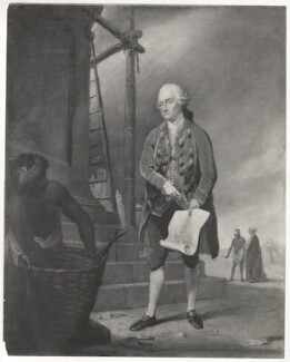 John Zephaniah Holwell, by Henry Dixon & Son, probably after  Robert Edge Pine - NPG D35936
