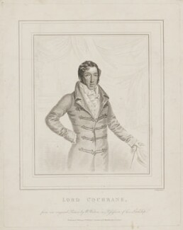 Thomas Cochrane, 10th Earl of Dundonald, by Robert Cooper, published by  George Smeeton, after  W. Walton - NPG D36025