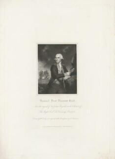 Samuel Hood, 1st Viscount Hood, by John Henry Robinson, published by  Harding & Lepard, after  William Derby, after  Sir Joshua Reynolds - NPG D35953
