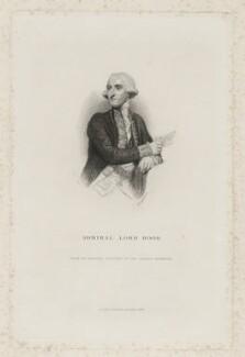 Samuel Hood, 1st Viscount Hood, by William Greatbach, published by  Richard Bentley, after  Sir Joshua Reynolds, published 1836 (1783) - NPG D35954 - © National Portrait Gallery, London