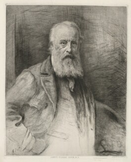 James Clarke Hook, by Otto Theodor Leyde, printed by  Chardon-Wittman, after  Sir John Everett Millais, 1st Bt - NPG D35956