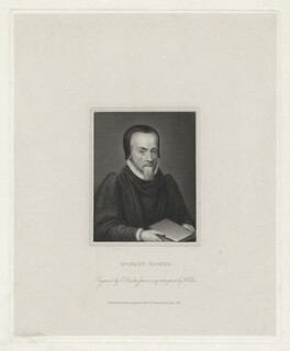 Richard Hooker, by Edward Francis Finden, published by  Holdsworth and Ball, after  Wenceslaus Hollar - NPG D35961