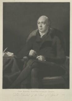 Charles Hope, Lord Granton, by Henry Edward Dawe, published by  Robert Scott, published by  David Hutton, after  Sir Henry Raeburn - NPG D35967