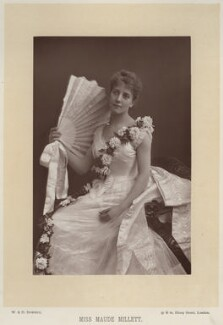 Maude Millett (Mrs Tennant), by W. & D. Downey, published by  Cassell & Company, Ltd - NPG x12525