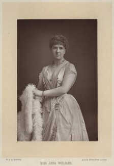 Anna Williams, by W. & D. Downey, published by  Cassell & Company, Ltd - NPG x27411