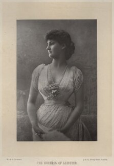 Hermione Wilhelmina Fitzgerald (née Duncombe), Duchess of Leinster, by W. & D. Downey, published by  Cassell & Company, Ltd - NPG x19999
