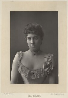 Lillie Langtry, by W. & D. Downey, published by  Cassell & Company, Ltd, published 1890 - NPG x12165 - © National Portrait Gallery, London