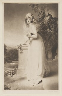 Louisa Manners (née Tollemache), 7th Countess of Dysart as Juno, by Richard Smythe, published by  James Connell & Sons, after  Sir Thomas Lawrence - NPG D36060