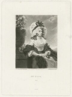 Anne Williams Hope (née Goddard, later Baroness von Dopff), by Samuel William Reynolds, or by  Samuel William Reynolds Jr, published by  Henry Graves & Co, after  Sir Joshua Reynolds - NPG D35978