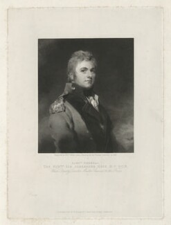 Sir Alexander Hope, by and published by William Walker, after  Sir Thomas Lawrence - NPG D35979
