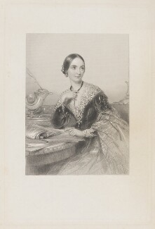 Jane Loftus (née Hope-Vere), Marchioness of Ely, by William Henry Mote, after  John Hayter - NPG D35981