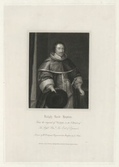 Ralph Hopton, 1st Baron Hopton of Stratton, by George Parker, published by  Harding, Triphook & Lepard, after  William Derby, after  Sir Anthony van Dyck - NPG D35991