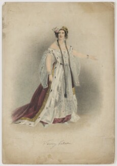 Fanny Eckerlin, by Maxim Gauci, published by  Paul and Dominic Colnaghi & Co, after  Alfred Edward Chalon - NPG D36068
