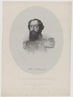 Sir Herbert Benjamin Edwardes, by Charles Baugniet, published by  Ernest Gambart & Co, and published by  Paul and Dominic Colnaghi & Co - NPG D36075
