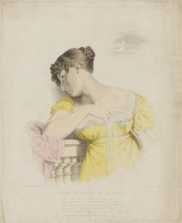 Elizabeth ('Eliza') (née O'Neil), Lady Wrixon-Becher when Miss O'Neill as Juliet, by Frederick Christian Lewis Sr, after  George Dawe - NPG D35813