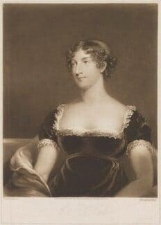 Elizabeth ('Eliza') (née O'Neil), Lady Wrixon-Becher when Miss O'Neill, by William Say, published by  Daniel Cox, after  John James Masquerier - NPG D35817