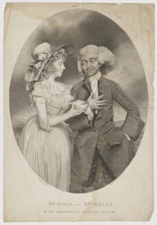 John Edwin the Elder; Mary Stephens Wells (née Davies), by and published by Hugh Downman, after  John Downman - NPG D36080