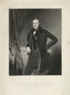 Sir Philip de Malpas Grey-Egerton, 10th Bt, by Samuel William Reynolds Jr, printed by  Lahee & Co, published by  Thomas Agnew, after  John Bostock, published 1 January 1840 - NPG D36081 - © National Portrait Gallery, London
