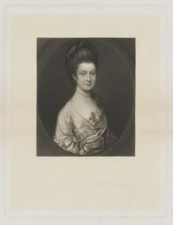 Anne Egerton (née Lindsay), by James Scott, published by  Henry Graves & Co, after  Thomas Gainsborough - NPG D36088