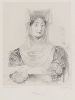Mrs East ('A Greek lady'), by Richard James Lane, after  Sir George Hayter - NPG D36094