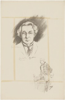 Sir Charles Wyndham, after Howard van Dusen, and after  John Hassall - NPG D36204