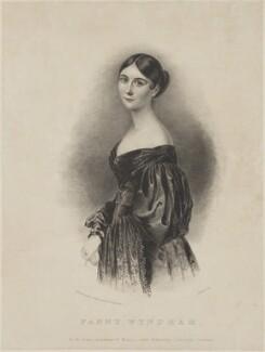 Fanny Wyndham (née Frances Wilton), by John William Gear, printed by  Jérémie Graf, published by  Thomas McLean, published by  W. C. Stafford - NPG D36210