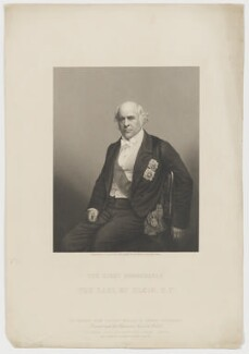 James Bruce, 8th Earl of Elgin, by Daniel John Pound, published by  The London Joint Stock Newspaper Company, after  John Watkins - NPG D36139