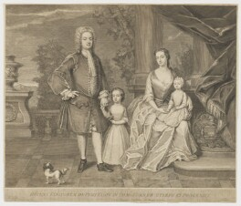 Eliot Family (Edward Eliot; Elizabeth Eliot; Elizabeth Eliot; James Eliot), by George Vertue - NPG D36142